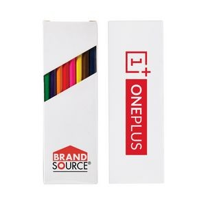 "Eight-Color 7"" Wooden Pencil Set in Box"