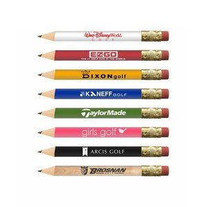 USA Made, Round Golf Pencil w/ Eraser