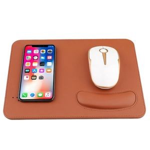 Wireless Charging Mouse Pad w/Wrist Rest