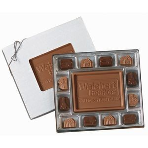 12 Piece Gift Box of Chocolates w/Chocolate Centerpiece