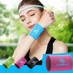 Sport Sweatband Wrist Bracer Breathable Cooling Ice Wristband