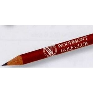 Imprinted Round Golf Pencil w/ Eraser