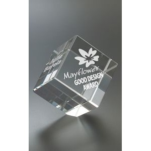 Tilting Cube Paperweight Award