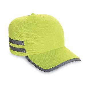 6-Panel 100% Cool-Off Performance Fabric Cap w/ Reflective Tape