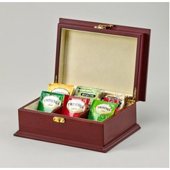 Rosewood Tea Box w/ 6 Sections