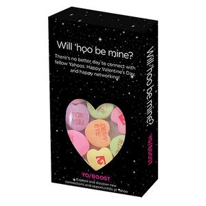 Small Window Box - Custom Conversation Hearts Candy with 3 Messages