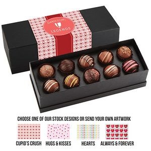 Valentine's Day 10 Piece Decadent Truffle Box - Assortment 1