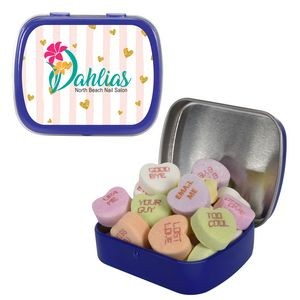 Small Mint Tin with Conversation Hearts