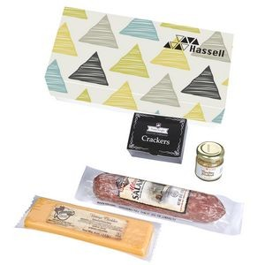 Charcuterie Gourmet Meat & Cheese Sampler Set In Gift Box