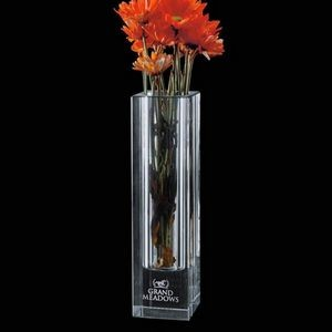 Bellaire Vase - Optical 8""