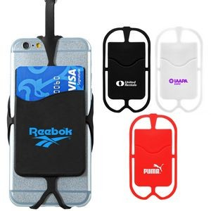 Silicone Phone Neck Wallet (Direct Import - 8-10 Weeks Ocean)