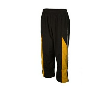 Youth Taslan Lined Pull-On Warm Up Pant w/ Zippered Leg & Open Bottom