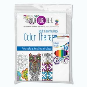Color Therapy® Adult Coloring Pack w/Coloring Book & Colored Pencils