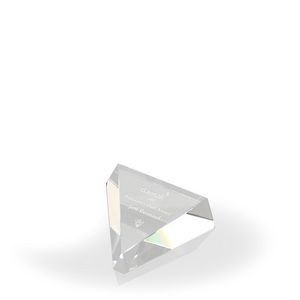 Triple Equality Award/ Paperweight - Optic Crystal