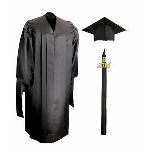 Deluxe Masters Graduation Cap & Gown - Full-Fit