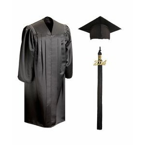 Deluxe Bachelors Graduation Cap & Gown - Full-Fit