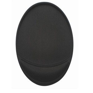 Oval Polyurethane Mouse Pad w/ Wrist Rest