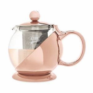 Shelby Rose Gold Wrapped Teapot & Infuser