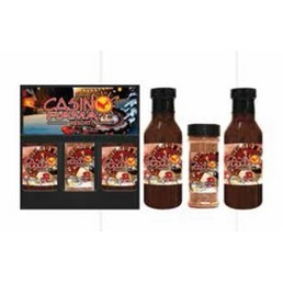 3 Pack BBQ Sauce & 8 Oz. Spice (350 ml each)- Black